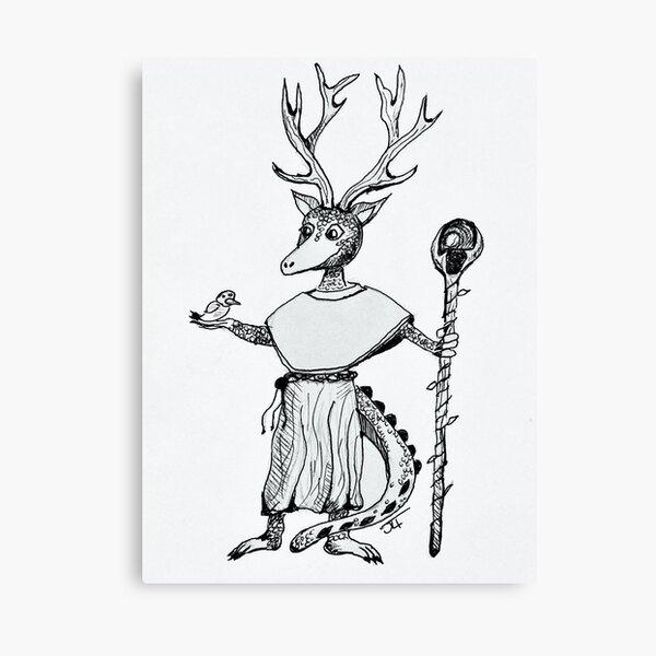 Kobold Druid inspired by the Kobolds In Space! TTRPG Canvas Print