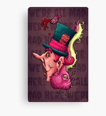 Mad Hatter and Hare Canvas Print