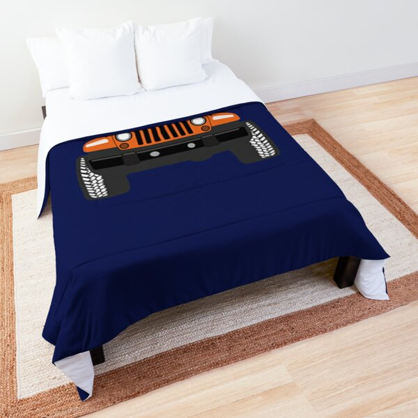Jeep Orange The power for Adventure Comforter