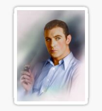 Colorized Portrait of Gary Cooper circa 1936-1940 Sticker