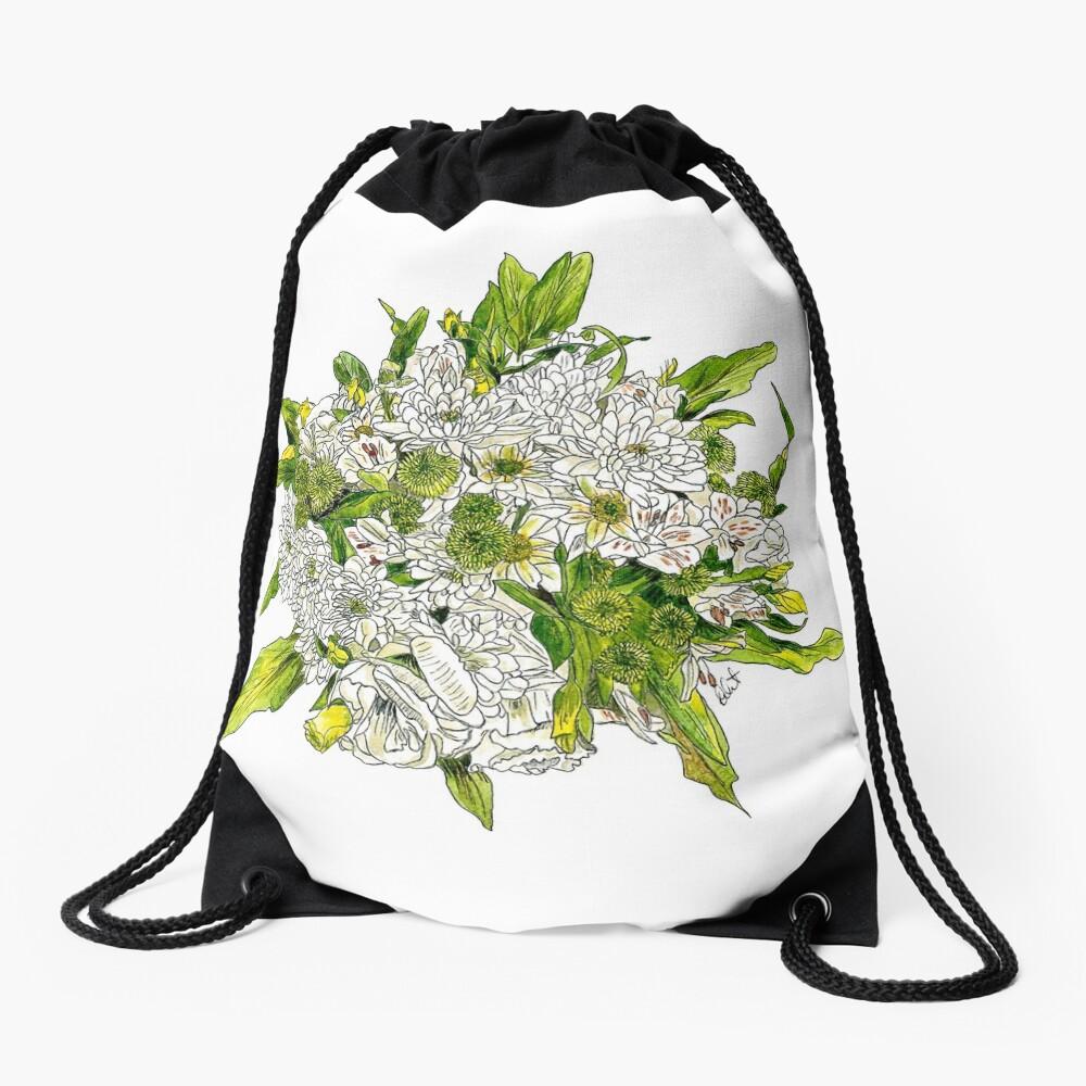 Charlotte's Bouquet Drawstring Bag