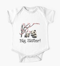 Panda Bears Big Sister One Piece - Short Sleeve
