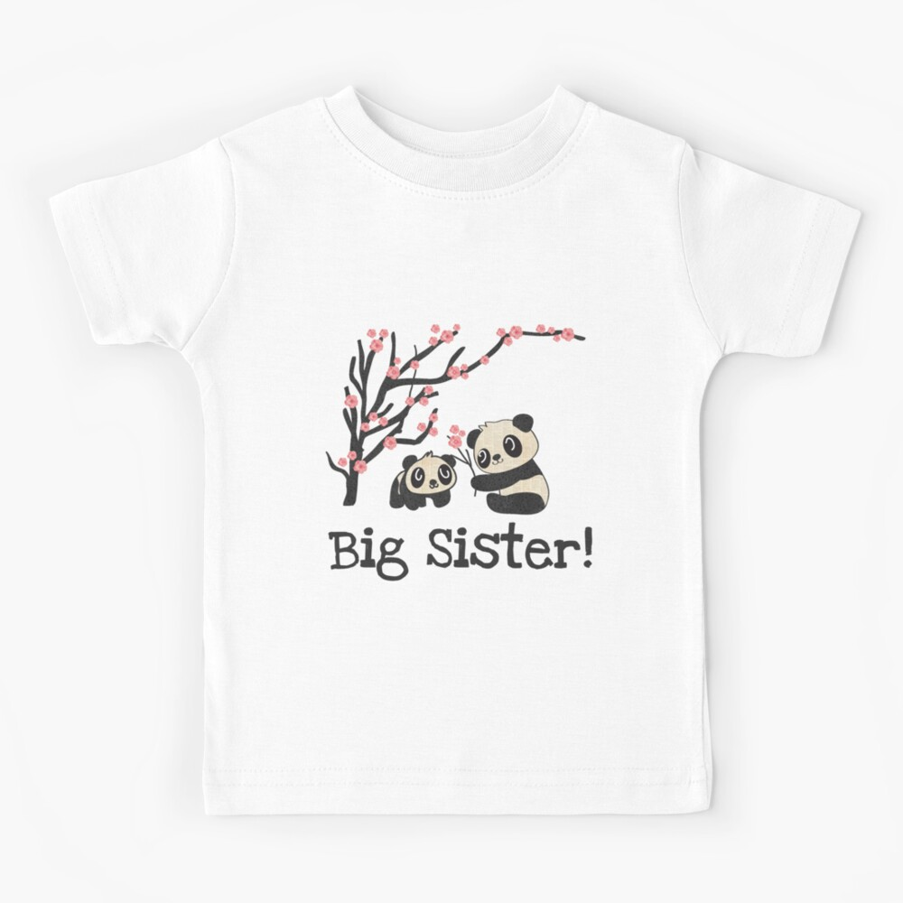 Panda Bears Big Sister Kids T-Shirt