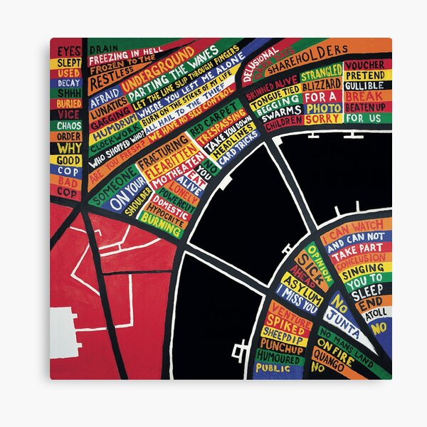 stanley donwood hail to the thief goods Canvas Print