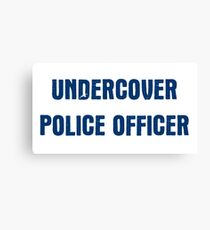 Undercover Police Officer Canvas Print
