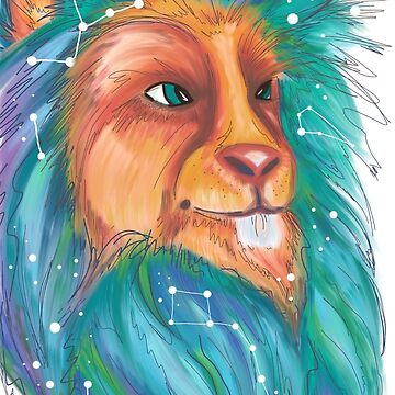 Cosmic lion by Ibubblesart