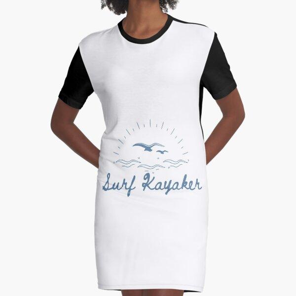 Surf Kayaker Graphic T-Shirt Dress