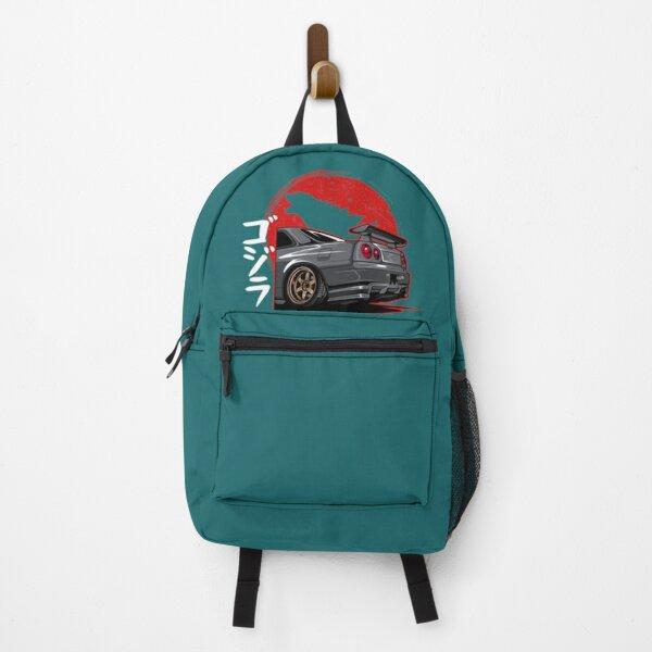 Nissan Skyline Gtr R34 Silver  Backpack