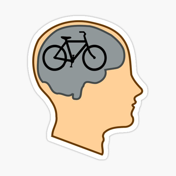 Fun Biking, Smiling Bicycle,Bicycle for our mind Sticker