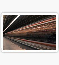speeding metro Sticker