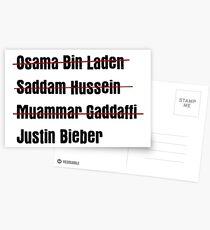 Funny Hit List Postcards