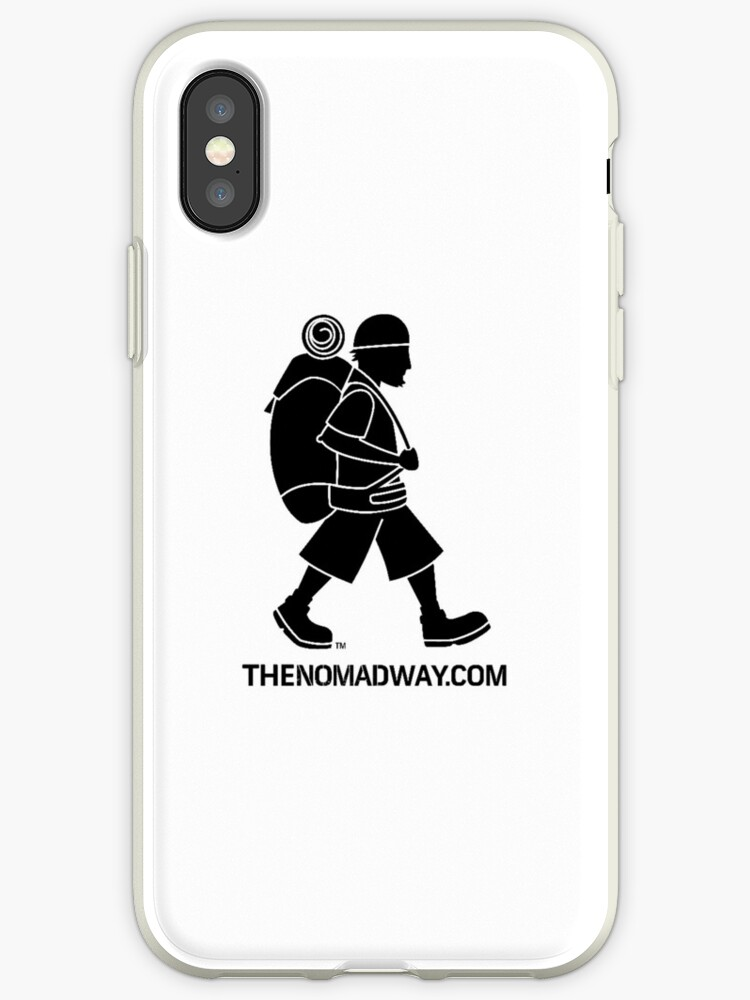 Phone Case (Black on White) The Nomad Way by TheNomadWay