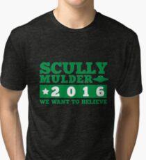 Scully & Mulder Campaign 2016 Tri-blend T-Shirt