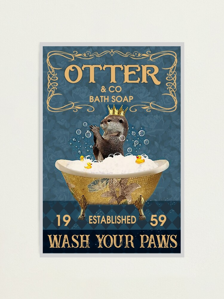Alternate view of Otter And Co Bath Soap Wash Your Paws Photographic Print