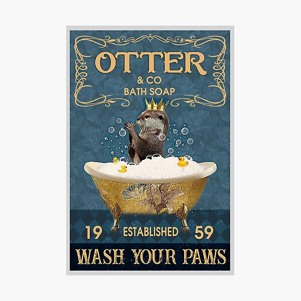 Otter And Co Bath Soap Wash Your Paws Photographic Print