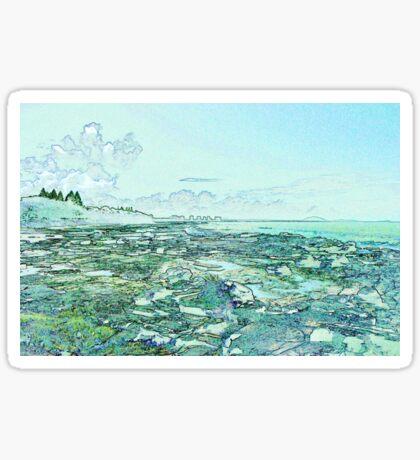 Seascape in Blue Sticker
