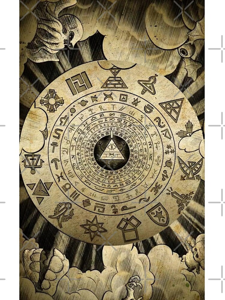 Gravity Falls Bill Cipher Wheel Ancient Glyphs Gifts Presents