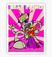 """Bear Prince & Robot"" by William Slone Sticker"
