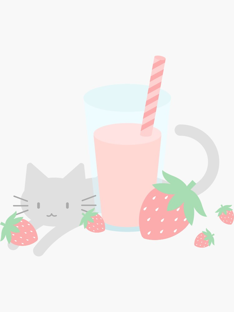 Strawberry Milk Kittea by lucidly