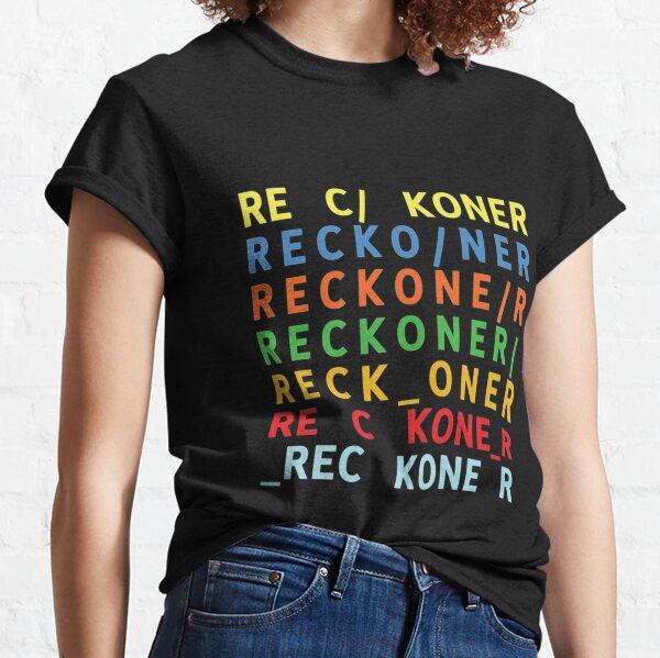 Reckoner Radiohead en arcoíris Camiseta clásica