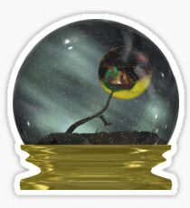 Hanging On in the Snow Globe Sticker Sticker