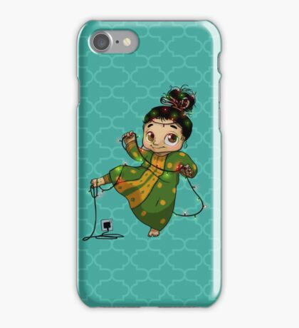 Girl Holds Lights iPhone Case/Skin