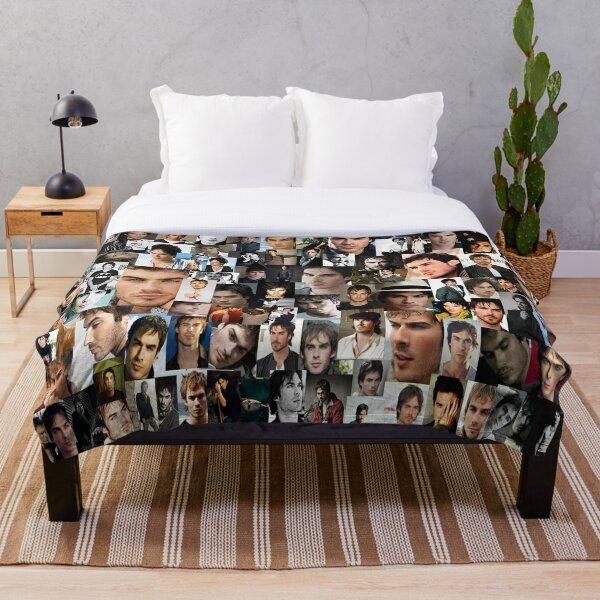 Ian Somerhalder Collage Throw Blanket