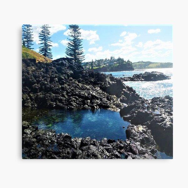 Kiama Water pools Metal Print