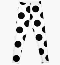 black & white polka dots Leggings