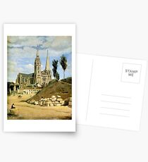 Jean-Baptiste Camille Corot - Chartres Cathedral, West Facade Postcards