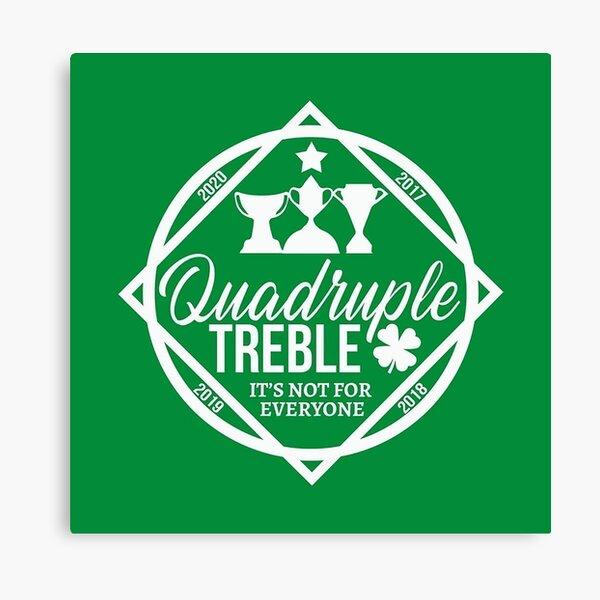 celtic quadruple treble - celtic fc Canvas Print