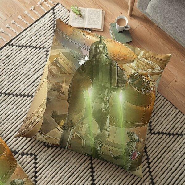 the fett fly Floor Pillow
