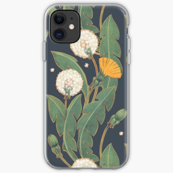 dandelion seamless pattern iPhone Soft Case