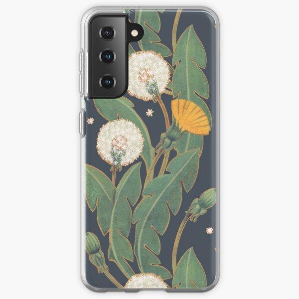dandelion seamless pattern Samsung Galaxy Soft Case