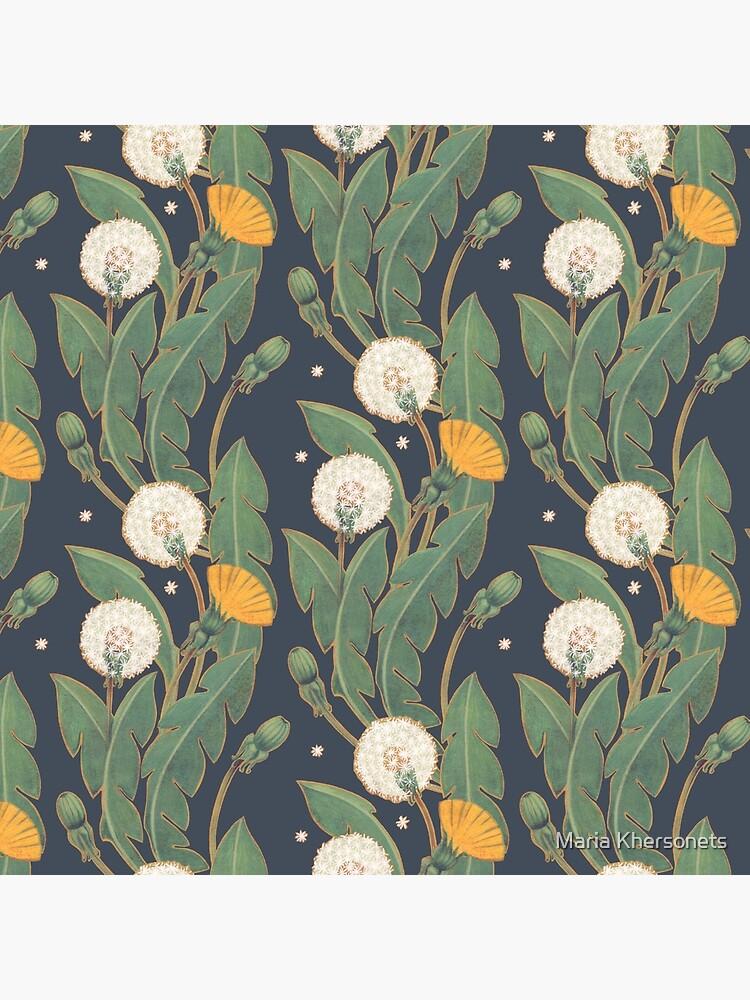 dandelion seamless pattern by bymuravka