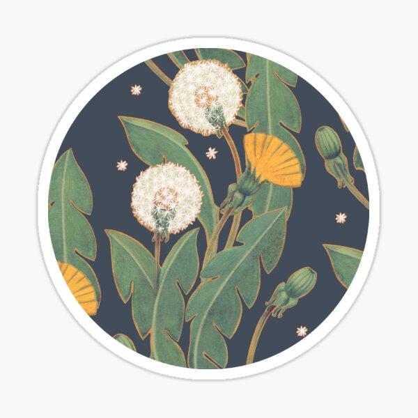 dandelion seamless pattern Sticker