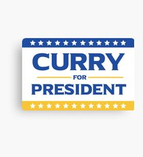 Curry for President Canvas Print