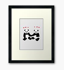 Panda Love Framed Print