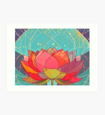 space lotos Art Print