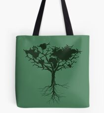 Earth tree *dark green edition Tote Bag