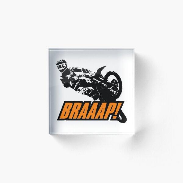BRAAAP Supercross Whip (Orange) Acrylic Block