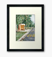 Canberra Bus Stop Richardson Framed Print
