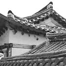Architecture Of Bukchon Hanok Village BW by Bo Insogna