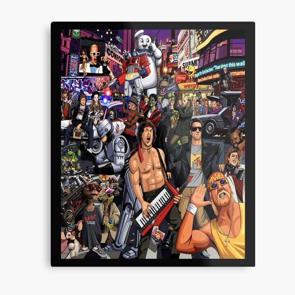 Pop Culture Cartoon Movie Music Collage Mosaic 1990's 80's Fan Art Gift Memorabilia  Metal Print
