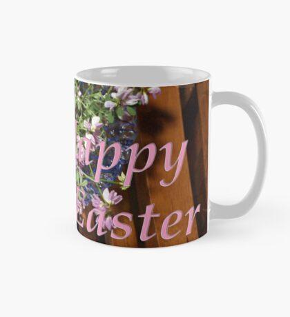 happy easter egg and flowers Mug