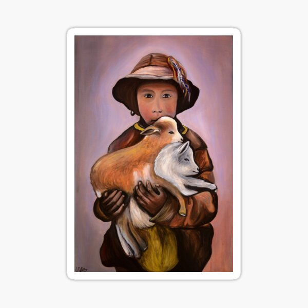 Berger avec ses chèvres Sticker