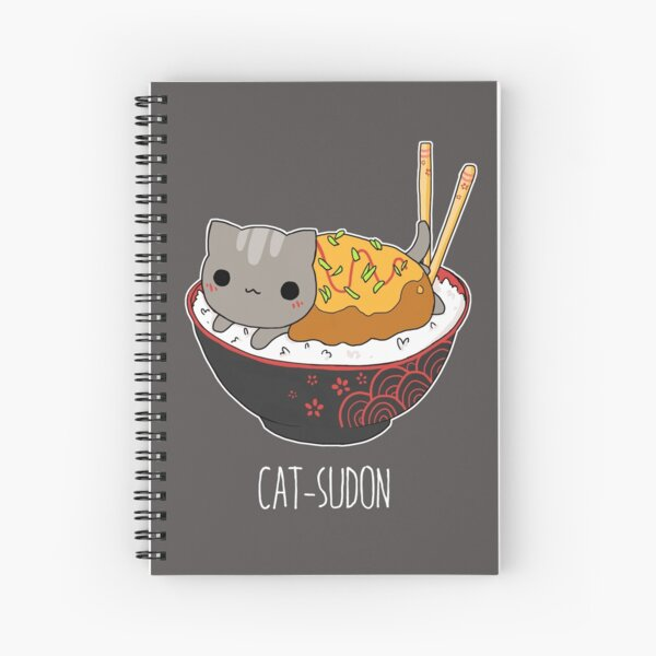 Catsudon Spiral Notebook
