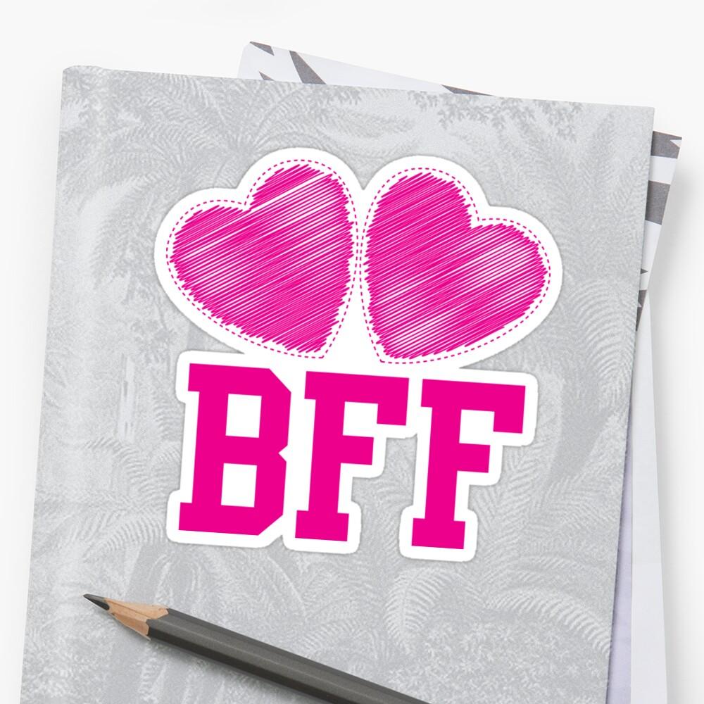 bff con lindos corazones rosas mejores amigos para siempre de jazzydevil