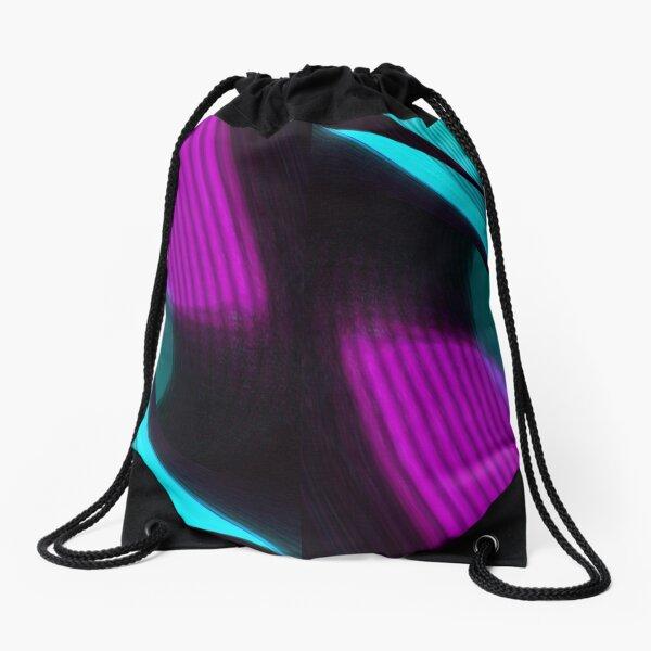 Colorful Cut Drawstring Bag