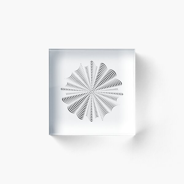 Decorative Pattern Acrylic Block